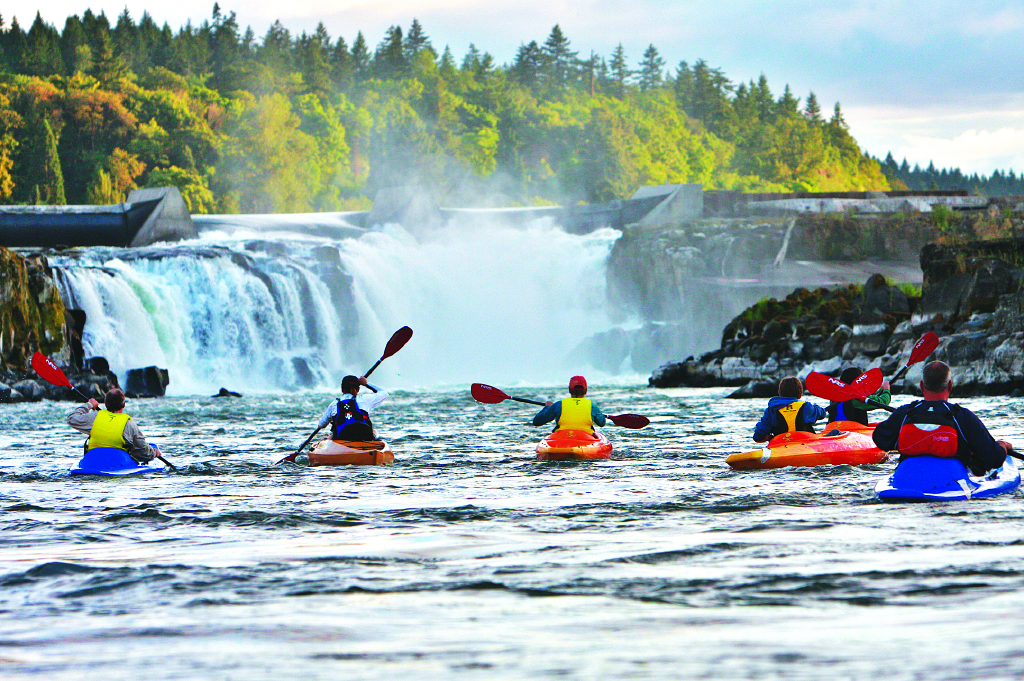 Kayaking Willamette Falls-eNRG Kayaking