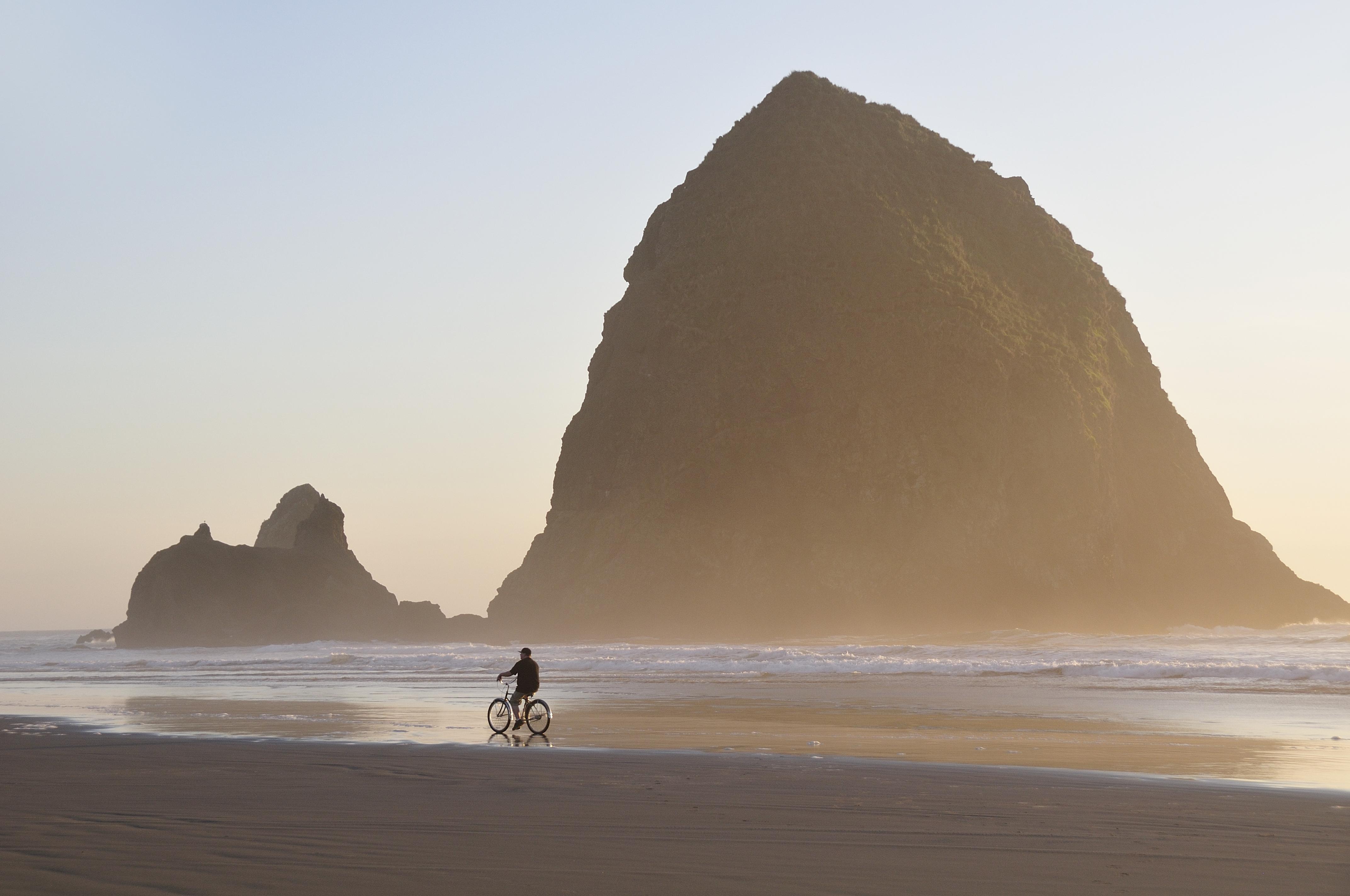 Sea stack,Cannon Beach,Oregon Coast,USA