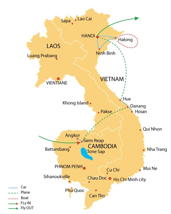 Heritage trails of Combodia and Vietnam